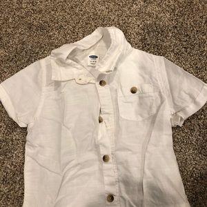 Button down white kids shirt